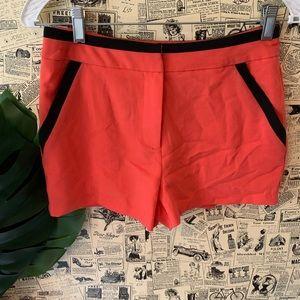 Lush shorts SZ small Coral Black